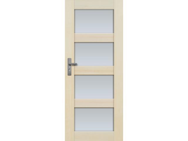 Drzwi sosnowe Nefryt przeszklone (4 szyby) 60 prawe Radex
