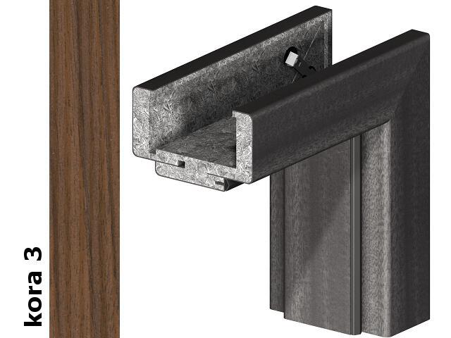 Ościeżnica regulowana 75-95mm 80 lewa okleina Cortex kora 3 zawiasy srebrne Verte