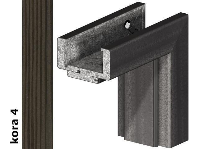 Ościeżnica regulowana 75-95mm 80 lewa okleina Cortex kora 4 zawiasy srebrne Verte