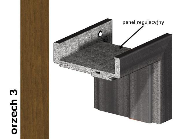 Panel regulacyjny 80mm do ościeżnic część pionowa komplet okleina Dur orzech 3 Verte