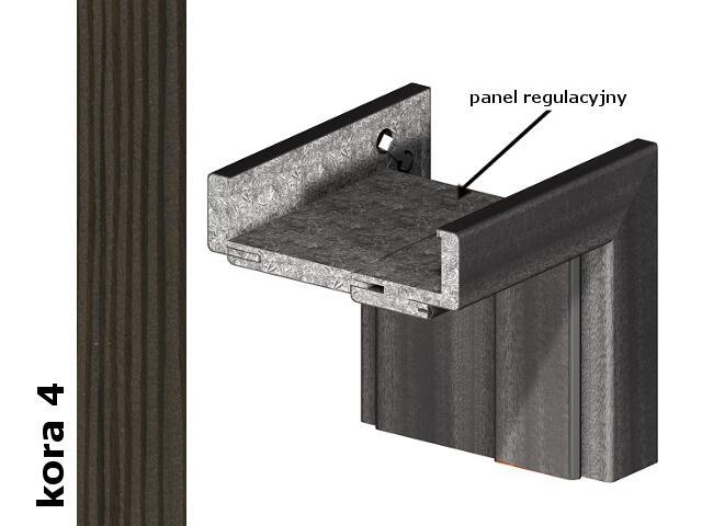 Panel regulacyjny 80mm do ościeżnic część pionowa komplet okleina Cortex kora 4 Verte