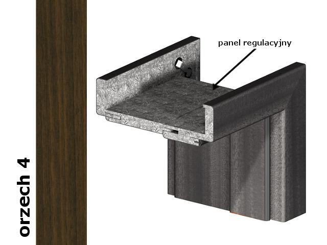 Panel regulacyjny 80mm do ościeżnic część pionowa komplet okleina Dur orzech 4 Verte
