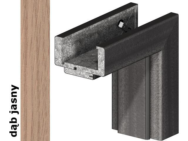Ościeżnica regulowana 220-240mm 80 lewa okleina Decor dąb jasny srebrne zawiasy Verte