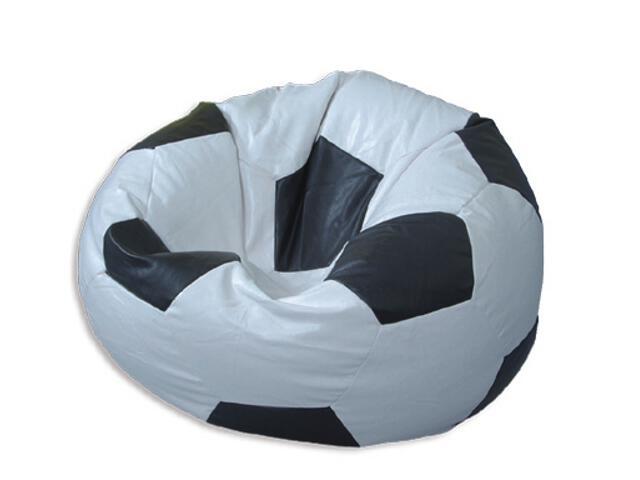Pufa piłka fotel kibica 65x45cm biel-czerń BabyMatex