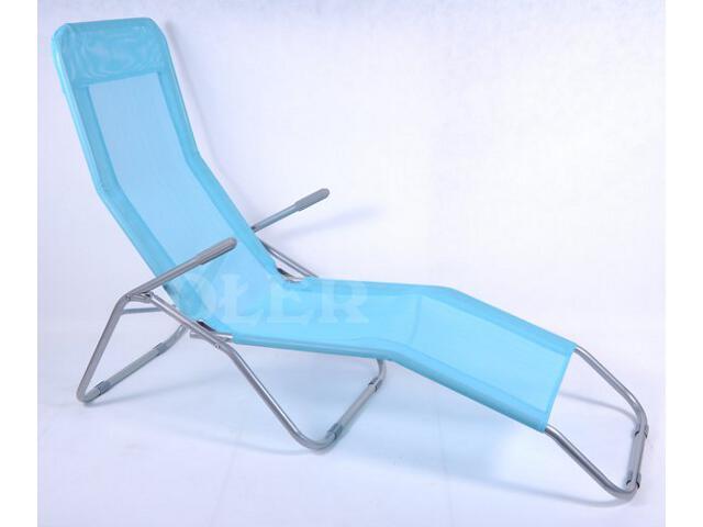Leżak ogrodowy niebieski Ołer