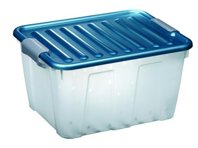 Pojemnik do przechowywania Home Box JUMBO 31L ocean blue Plast Team