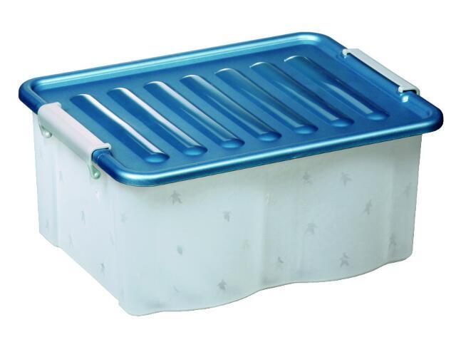 Pojemnik do przechowywania Home Box MAXI 12L ocean blue Plast Team