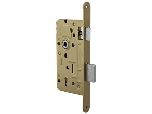 Zamek wpuszczany BOX 72/50 lakier piaskowy klucz Domino
