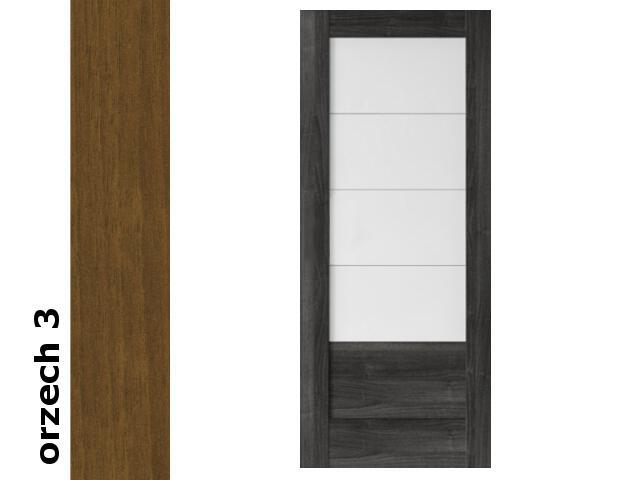 Drzwi przesuwne bezprzylgowe okleina Dur orzech 3 B4 80 Verte