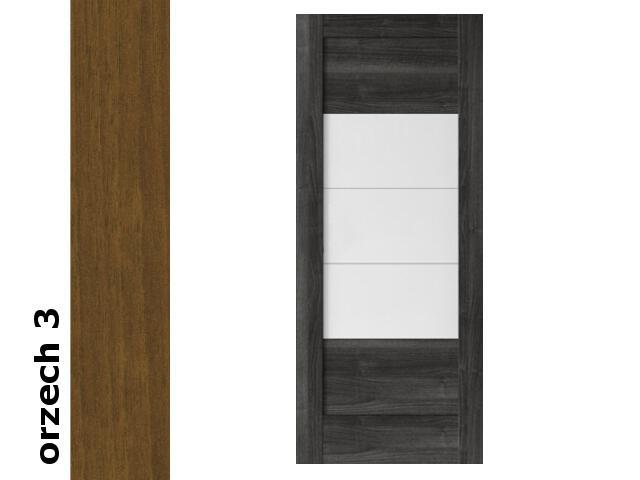 Drzwi przesuwne bezprzylgowe okleina Dur orzech 3 B7 70 zamek hakowy srebrny Verte