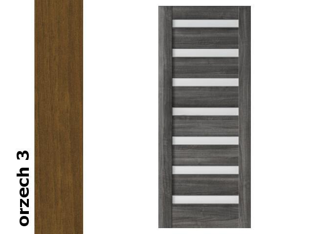 Drzwi przesuwne bezprzylgowe okleina Dur orzech 3 D7 80 zamek hakowy srebrny Verte