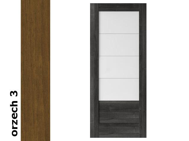 Drzwi przesuwne bezprzylgowe okleina Dur orzech 3 B4 80 pochwyt podłużny tuleje Verte