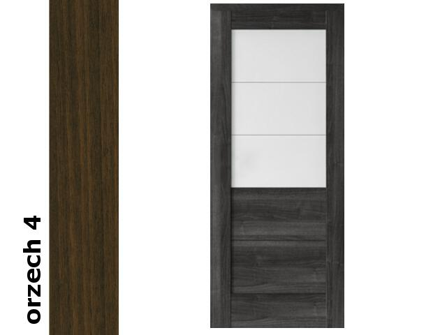 Drzwi przesuwne bezprzylgowe okleina Dur orzech 4 B3 90 zamek hakowy srebrny Verte