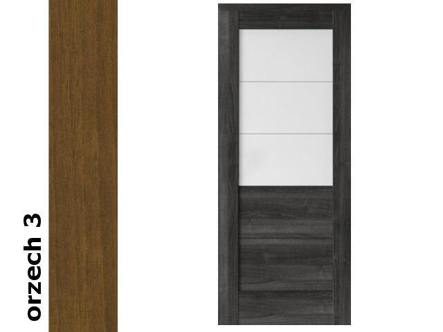 Drzwi przesuwne bezprzylgowe okleina Dur orzech 3 B3 100 pochwyt podł. srebrny Verte