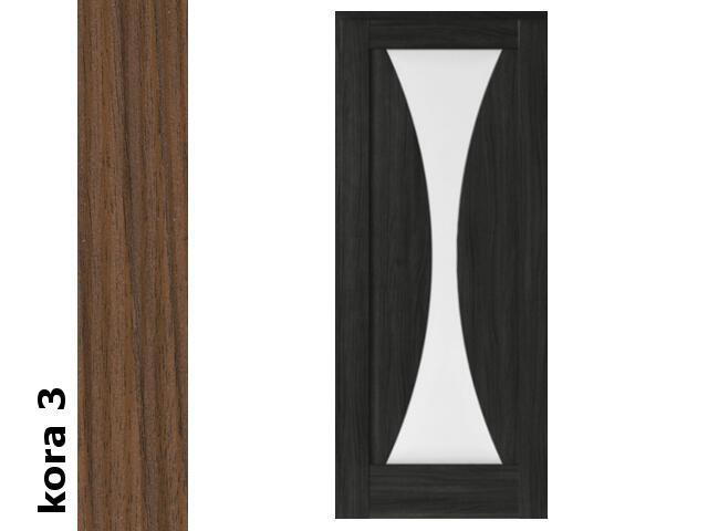Drzwi przesuwne bezprzylgowe okleina Cortex kora 3 E2 70 pochwyt okrągły Verte