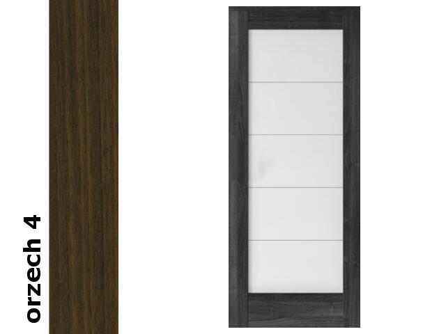 Drzwi przesuwne bezprzylgowe okleina Dur orzech 4 B5 80 zamek hakowy srebrny Verte