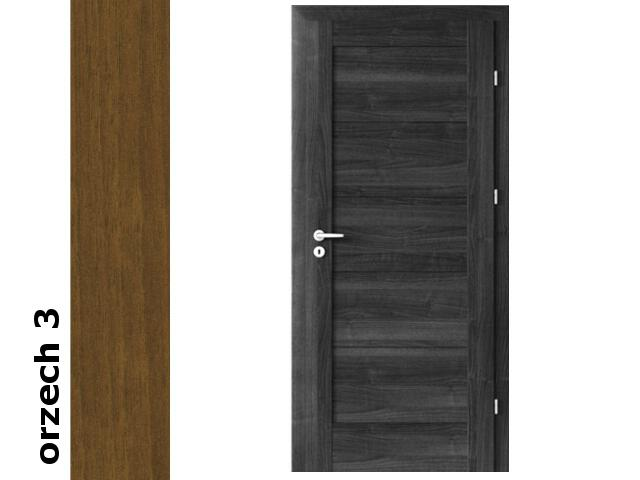 Drzwi okleinowane Dur orzech 3 B0 90 lewe zawiasy srebrne Verte
