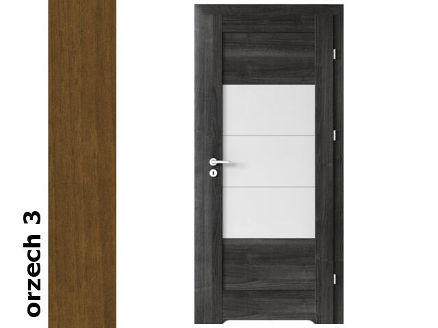Drzwi okleinowane Dur orzech 3 B7 90 lewe zawiasy srebrne Verte