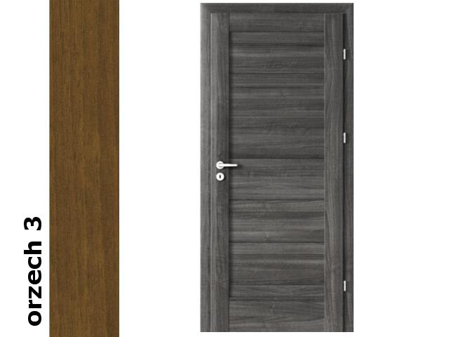 Drzwi okleinowane Dur orzech 3 D0 80 lewe zawiasy srebrne Verte