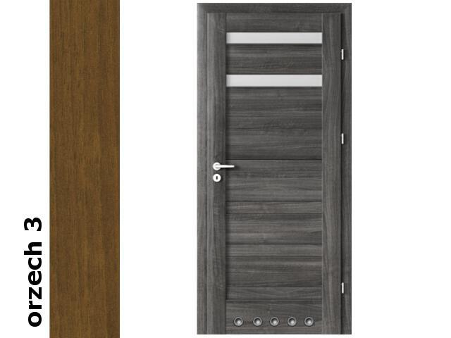 Drzwi okleinowane Dur orzech 3 D2 80 prawe blokada wc tuleje zawiasy srebrne Verte