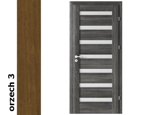 Drzwi okleinowane Dur orzech 3 D7 90 prawe zawiasy srebrne Verte