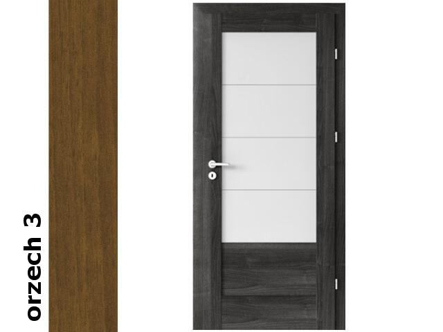 Drzwi okleinowane Dur orzech 3 B4 80 prawe zawiasy złote Verte
