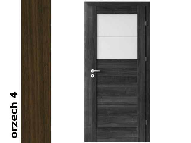 Drzwi okleinowane Dur orzech 4 B2 60 prawe blokada wc zawiasy srebrne Verte