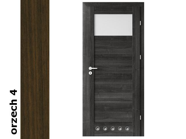 Drzwi okleinowane Dur orzech 4 B1 80 prawe blokada wc tuleje zawiasy srebrne Verte