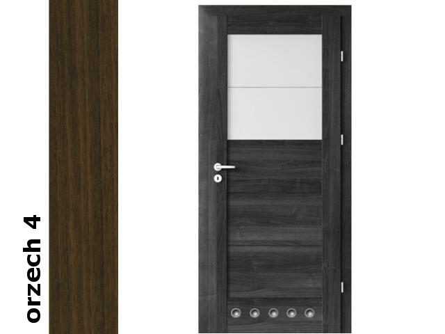 Drzwi okleinowane Dur orzech 4 B2 80 prawe blokada wc tuleje zawiasy złote Verte