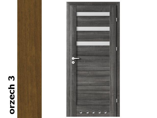Drzwi okleinowane Dur orzech 3 D3 80 prawe blokada wc tuleje zawiasy srebrne Verte