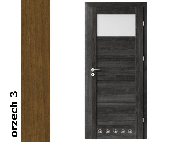 Drzwi okleinowane Dur orzech 3 B1 60 prawe blokada wc tuleje zawiasy srebrne Verte