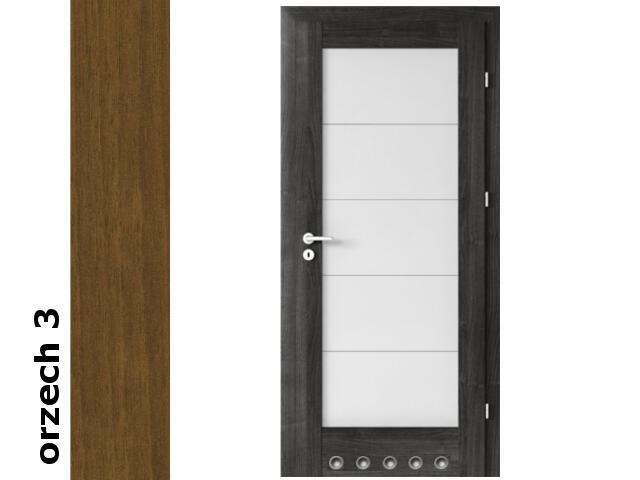 Drzwi okleinowane Dur orzech 3 B5 80 prawe blokada wc tuleje zawiasy srebrne Verte