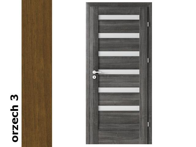 Drzwi okleinowane Dur orzech 3 D6 80 prawe blokada wc zawiasy srebrne Verte