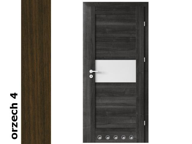 Drzwi okleinowane Dur orzech 4 B6 80 prawe blokada wc tuleje zawiasy srebrne Verte