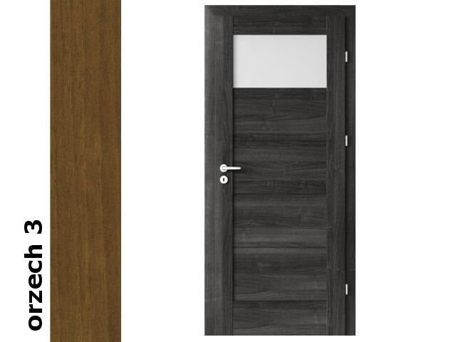 Drzwi okleinowane Dur orzech 3 B1 70 lewe blokada wc zawiasy złote Verte