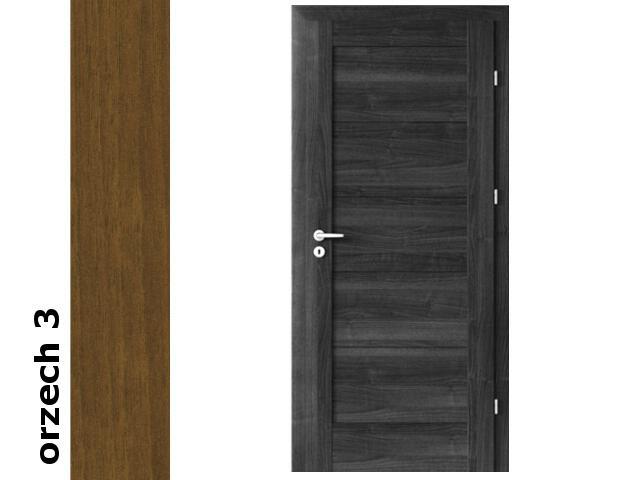 Drzwi okleinowane Dur orzech 3 B0 80 prawe zamek patent zawiasy srebrne Verte