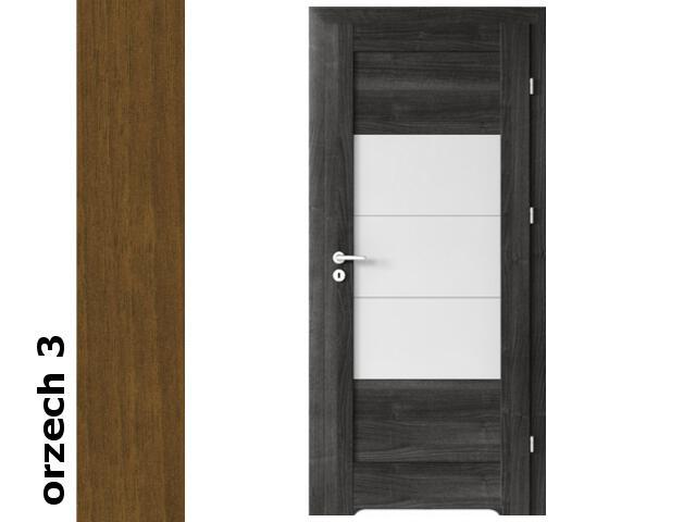 Drzwi okleinowane Dur orzech 3 B7 80 prawe zamek patent zawiasy srebrne Verte