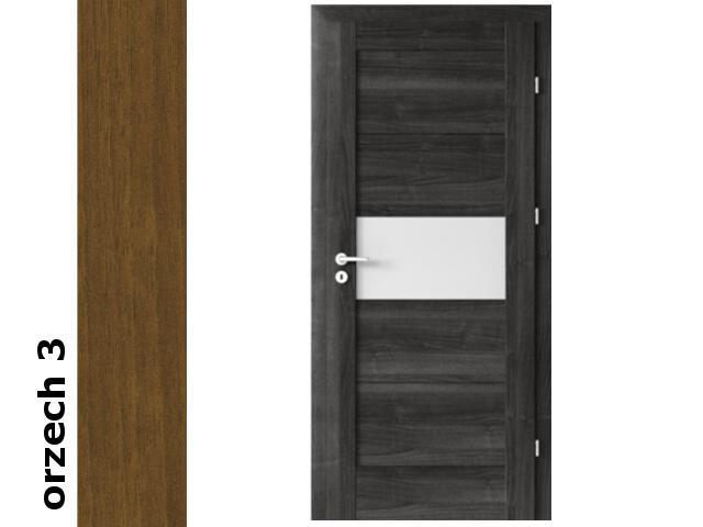 Drzwi okleinowane Dur orzech 3 B6 90 lewe zawiasy srebrne Verte