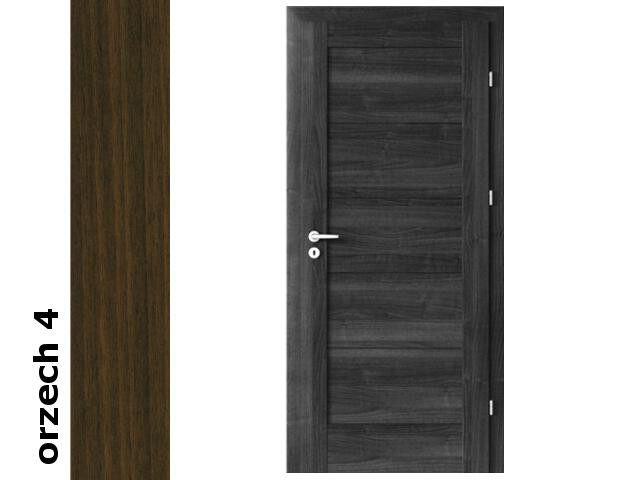 Drzwi okleinowane Dur orzech 4 B0 80 lewe zawiasy srebrne Verte