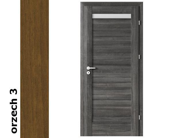 Drzwi okleinowane Dur orzech 3 D1 80 prawe zawiasy srebrne Verte