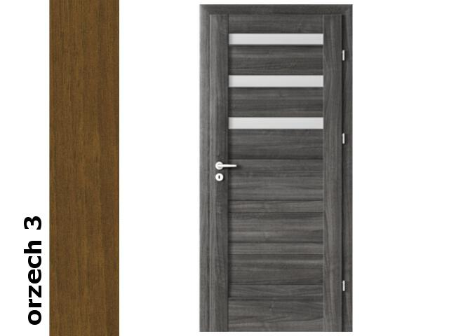 Drzwi okleinowane Dur orzech 3 D3 90 prawe zawiasy srebrne Verte