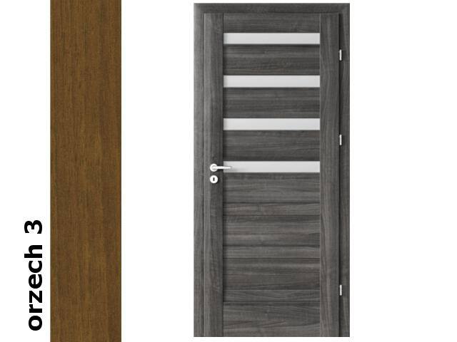 Drzwi okleinowane Dur orzech 3 D4 80 lewe zawiasy srebrne Verte