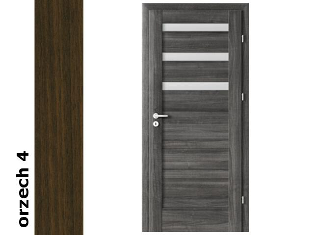Drzwi okleinowane Dur orzech 4 D3 80 lewe zawiasy srebrne Verte
