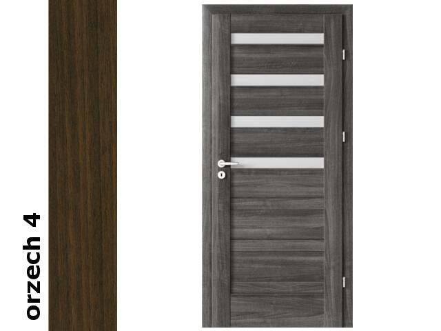 Drzwi okleinowane Dur orzech 4 D4 80 lewe zawiasy srebrne Verte
