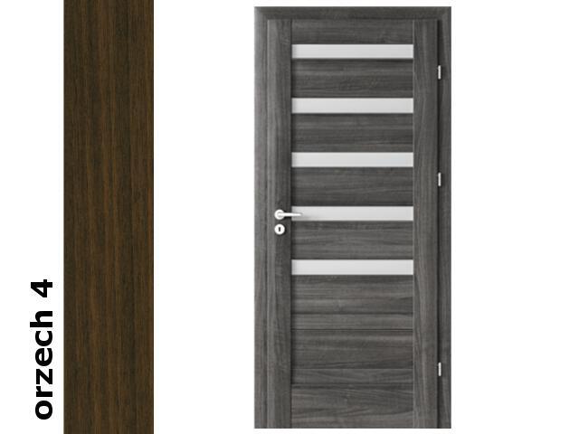 Drzwi okleinowane Dur orzech 4 D5 80 lewe zawiasy srebrne Verte