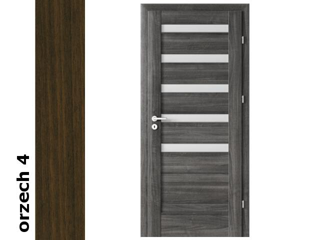 Drzwi okleinowane Dur orzech 4 D5 90 lewe zawiasy srebrne Verte