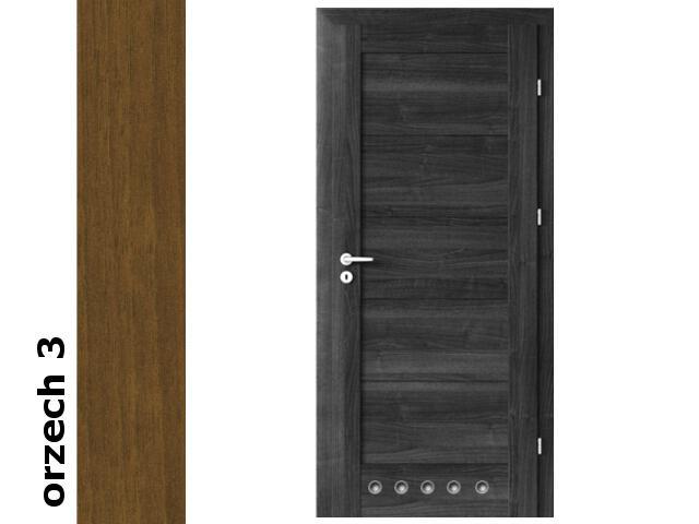 Drzwi okleinowane Dur orzech 3 B0 80 prawe blokada wc tuleje zawiasy złote Verte