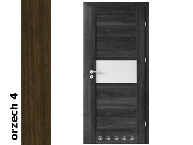 Drzwi okleinowane Dur orzech 4 B6 70 prawe blokada wc tuleje zawiasy srebrne Verte