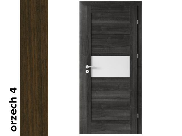 Drzwi okleinowane Dur orzech 4 B6 80 prawe zamek patent zawiasy srebrne Verte
