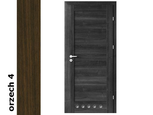Drzwi okleinowane Dur orzech 4 B0 80 prawe blokada wc tuleje zawiasy srebrne Verte